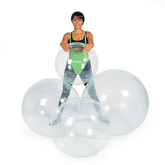 ギムニク バランスボール オプティボール55 55cm 透明 クリア (GY96-55) エクササイズ ヨガ ボール ピラティス