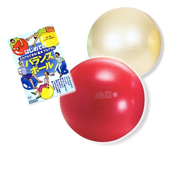 ギムニク バランスボール はじめてのバランスボールセット 55cm (GYh-set55) エクササイズ ヨガ ボール ピラティス