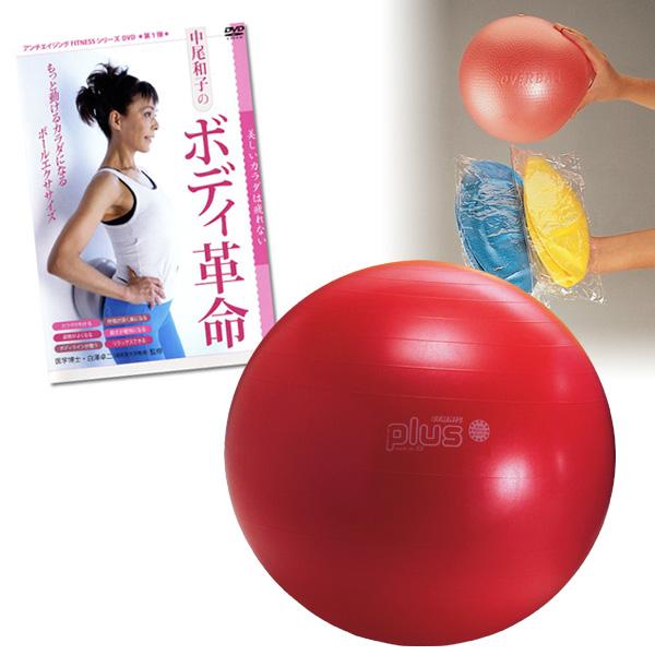 ギムニク バランスボール 身体のパフォーマンスをワンランクUPセット 55cm (GYPset55) エクササイズ ヨガ ボール ピラティス 【 送料無料 】