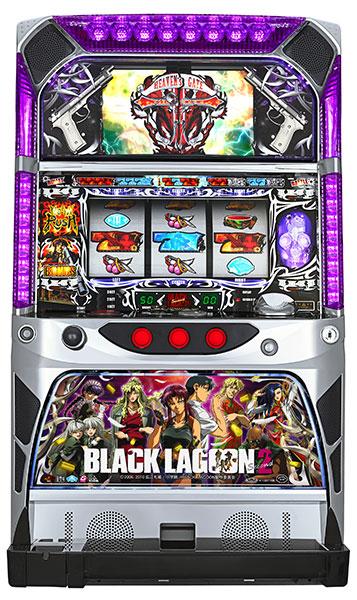 スパイキー BLACK LAGOON2(ブラックラグーン2)『コイン不要機ブロンズセット』[パチスロ実機/スロット 実機][コイン不要機ブロンズ(コインレス専用)/家庭用電源/音量調整/ドアキー/設定キー/取扱い説明書付き][中古