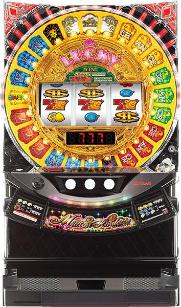 KPE (コナミアミューズメント)ミリオンルーレット『コイン不要機ゴールドセット』[パチスロ実機/スロット 実機][コイン不要機ゴールド(コイン/コインレス/オートモードプレイ)/家庭用電源/音量調整/ドアキー/設定キ