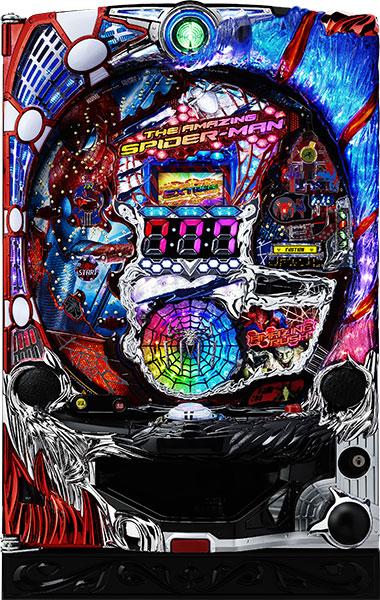七匠 CRアメイジング・スパイダーマン 『バリューセット2』[パチンコ実機][オートコントローラータイプ2(演出観賞特化型コントローラー)+循環リフター/家庭用電源/音量調整/ドアキー/取扱い説明書付き〕[中古]