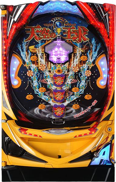 エイゴン CRA-gon天空の王求物語 『バリューセット1』[パチンコ実機][オートコントローラータイプ1(自動回転/保留固定/高速消化/玉打ち併用)+循環リフター/家庭用電源/音量調整/ドアキー/取扱い説明書付き〕[中古]