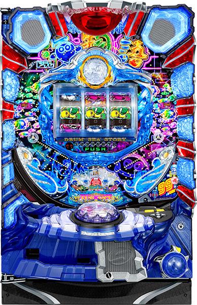 SanThree CRAドラム海物語99バージョン 『バリューセット2』[パチンコ実機][オートコントローラータイプ2(演出観賞特化型コントローラー)+循環リフター加工/家庭用電源/音量調整/ドアキー/取扱い説明書付き〕[中古]