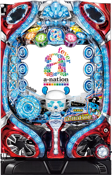 SANKYO CRフィーバーa-nation319ver. 『ノーマルセット』[パチンコ実機][家庭用電源/音量調整/ドアキー/取扱い説明書付き〕[中古]