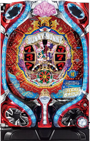 SANKYO CRフィーバーバニー&バニー114. over. 『循環リフターセット』[パチンコ実機][循環リフター付き/家庭用電源/音量調整/ドアキー/取扱い説明書付き〕[中古]