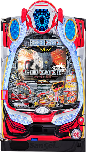 サンセイ P GOD EATER-ブラッドの覚醒-MP『バリューセット3』[パチンコ実機][A-コントローラーPlus+循環リフター/家庭用電源/音量調整/ドアキー/取扱い説明書付き〕[中古]