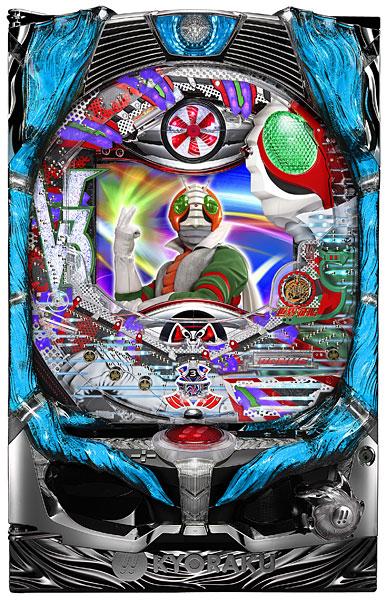 京楽 CRぱちんこ 仮面ライダーV3 Light Version『バリューセット3』[パチンコ実機][A-コントローラーPlus+循環リフター/家庭用電源/音量調整/ドアキー/取扱い説明書付き〕[中古]
