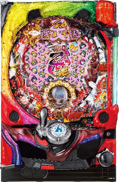 平和 CR戦国乙女~花~99ver. 『バリューセット2』[パチンコ実機][オートコントローラータイプ2(演出観賞特化型コントローラー)+循環リフター/家庭用電源/音量調整/ドアキー/取扱い説明書付き〕[中古]