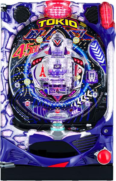 アムテックス Pトキオブラック4500『バリューセット2』[パチンコ実機][オートコントローラータイプ2(演出観賞特化型コントローラー)+循環リフター/家庭用電源/音量調整/ドアキー/取扱い説明書付き〕[中古]