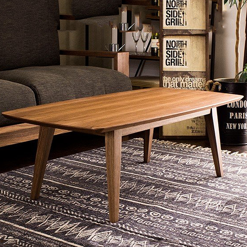センターテーブル テーブル 天然木 Cinoセンターテーブル 幅1200 奥行600 ウォールナット材 MDF材 四角 モダン リビング