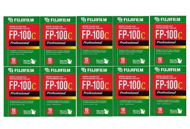 FUJIFILM FP-100C 10本パック (剥離式インスタントフィルム ISO-100カラー 計100枚入り) [並行輸入品]