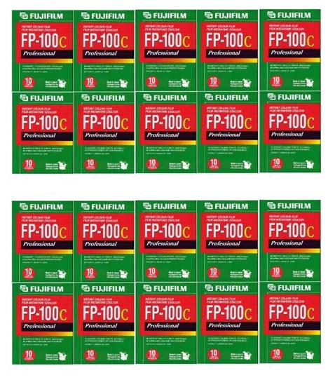 FUJIFILM FP-100C 20本パック (剥離式インスタントフィルム ISO-100カラー 計200枚入り) [並行輸入品]