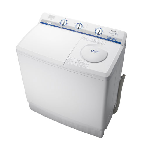 【標準設置無料】日立(HITACHI) 2槽式洗濯機 洗濯12kg ホワイト PS-120AW 【代引き不可】【離島配送不可】