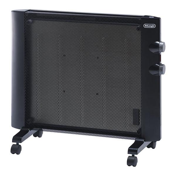 デロンギ HMP900J-B ブラック [マイカパネルヒーター(~900W)] 即暖型 軽量 薄型 省スペース設計 キャスター 取っ手 スポット暖房 2段階(900w/450w)電力切り替え 暖房 電気 冬物