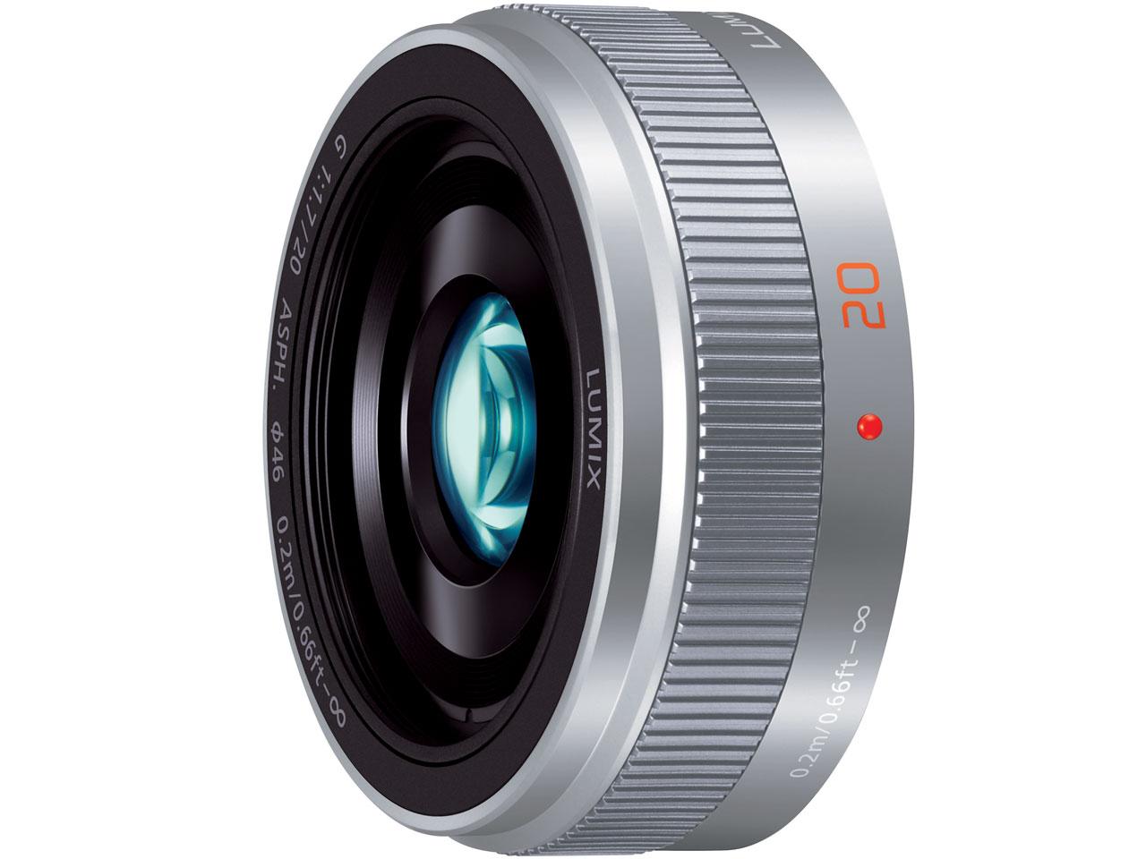 【送料無料】PANASONIC H-H020A-S シルバー LUMIX G 20mm/F1.7 II ASPH [マイクロフォーサーズ用レンズ]