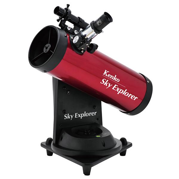 見つけた天体を自動で追尾!エンコーダー内蔵 自動追尾望遠鏡 天体望遠鏡 ケンコー SE-AT100N RD スカイエクスプローラー 反射式 小学生 研究 火星 惑星 土星 理科 子供