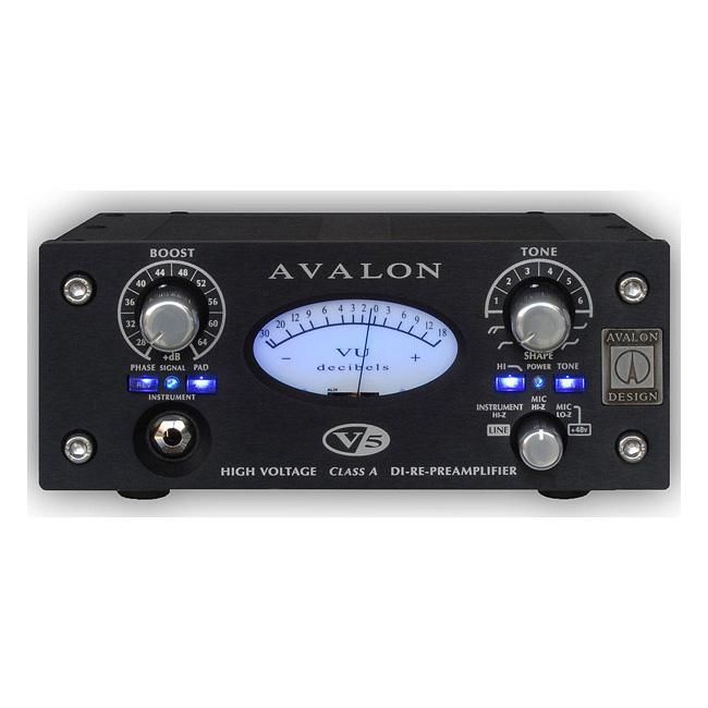 【送料無料】AVALON V5 Black [High Voltage ClassA DI-RE-Preamplifier]