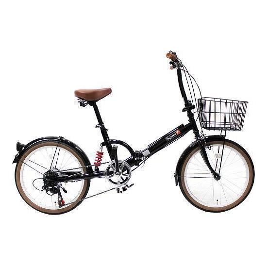 【送料無料】TOP ONE FS206LL-37-BK ブラック [折りたたみ自転車(20インチ・6段変速)]【同梱配送不可】【代引き不可】【沖縄・北海道・離島配送不可】