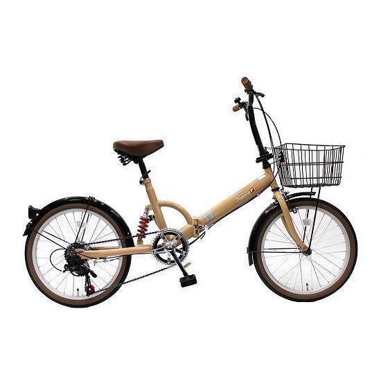 【送料無料】TOP ONE FS206LL-37-MO モカ [折りたたみ自転車(20インチ・6段変速)] 【同梱配送不可】【代引き・後払い決済不可】【沖縄・北海道・離島配送不可】