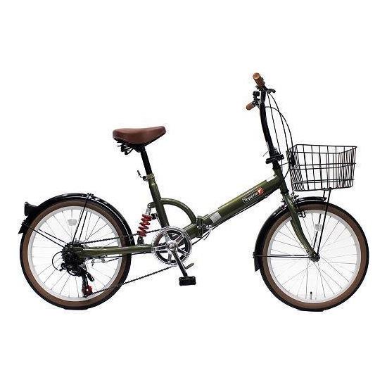 TOP ONE FS206LL-37-OL オリーブ [折りたたみ自転車(20インチ・6段変速)] メーカー直送