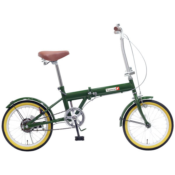 TOP ONE FL160-46-MG モスグリーン TESTA(テスタ) [折りたたみ自転車(16インチ)] 【同梱配送不可】【代引き・後払い決済不可】【沖縄・北海道・離島配送不可】