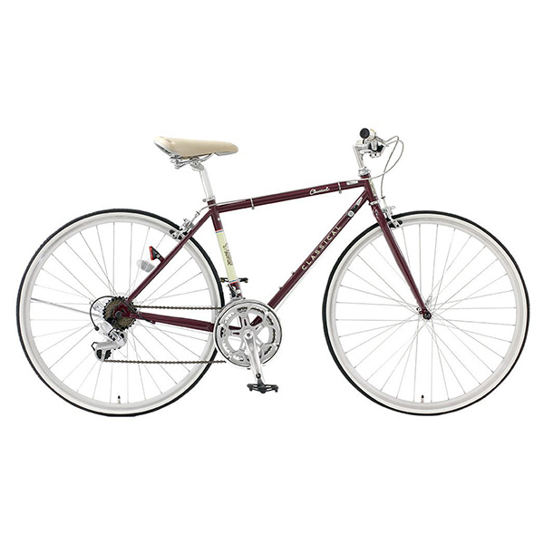 【送料無料】TOP ONE YCR7014-4D-460-BO ボルドー Classical(クラシカル) [クロスバイク(700×25C・14段変速) 460mmサイズ] 【同梱配送不可】【代引き・後払い決済不可】【沖縄・北海道・離島配送不可】