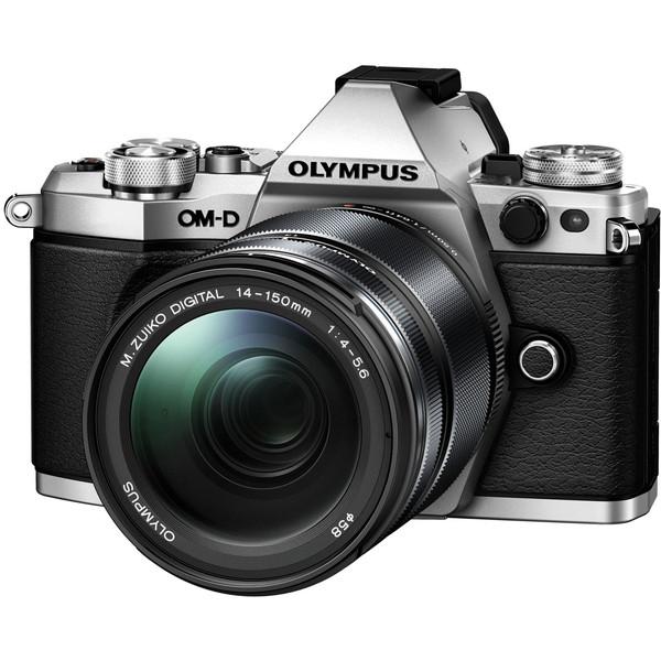 【送料無料】OLYMPUS(オリンパス) E-M5 Mark2・14-150mm 2レンズキット シルバー [デジタル一眼カメラ(1605万画素)]