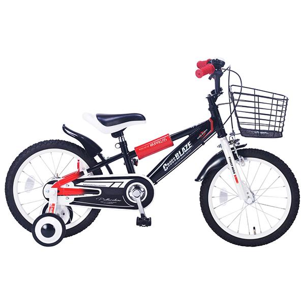 【送料無料】マイパラス MD-10-BK ブラック [子供用自転車(16インチ) 補助輪付き]【同梱配送不可】【代引き不可】【本州以外の配送不可】