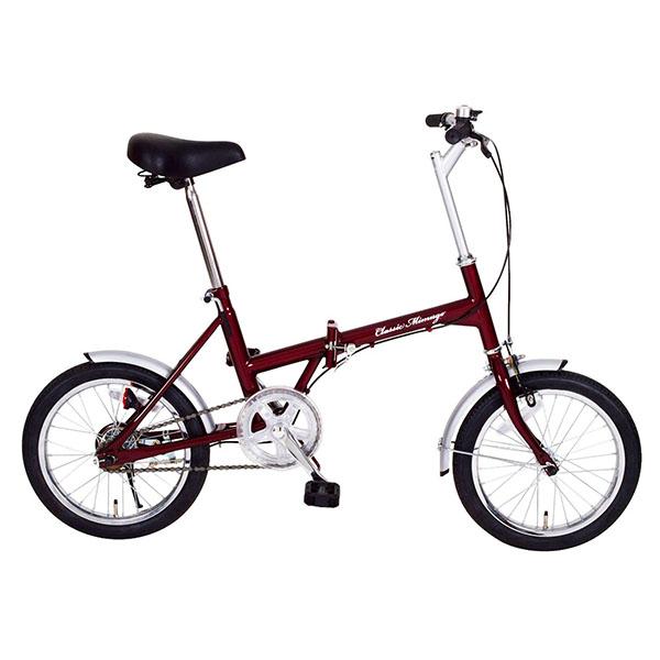 【送料無料】ミムゴ MG-CM16 クラシックレッド Classic Mimugo [折りたたみ自転車(16インチ)]【同梱配送不可】【代引き不可】【沖縄・北海道・離島配送不可】
