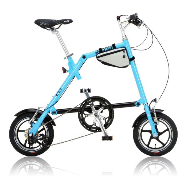【送料無料】nanoo FD-1207 ブルー [折りたたみ自転車(12インチ・7段変速)] 【同梱配送不可】【代引き・後払い決済不可】【沖縄・北海道・離島配送不可】