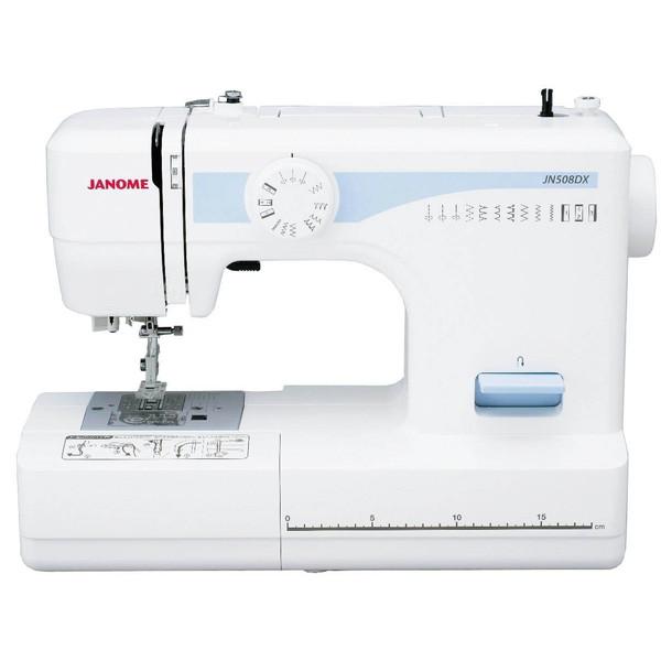 【送料無料】ジャノメ JN508DX [電動ミシン] フットコントローラー コンパクト 重ね縫い 蛇の目ミシン