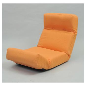 【送料無料】JKプラン ZSY-NHBCK-OR 新ハイバックチェア オレンジ [座椅子]【同梱配送不可】【代引き不可】【沖縄・北海道・離島配送不可】