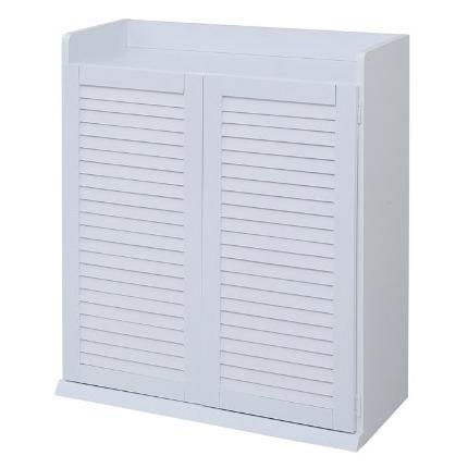 【送料無料】JKプラン SGT-0102-WH ルーバーシューズボックス 幅75 ホワイト【同梱配送不可】【代引き不可】【沖縄・離島配送不可】