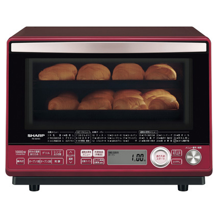 【送料無料】シャープ オーブンレンジ 電子レンジ オーブン 過熱水蒸気 RE-SS10C-R スチーム ヘルシー 2段オーブン 縦開き ヘルツフリー 庫内 フラット スピードメニュー 冷凍食品 お菓子 パン あたため キッチン 家電 31L SHARP