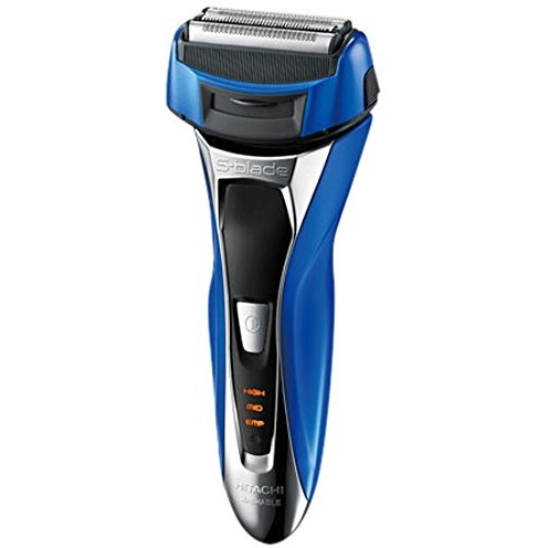 【送料無料】日立 RM-FL10W-A メタリックブルー S-Blade sonic(エスブレードソニック) [メンズシェーバー (往復式・4枚刃/充電交流式)]