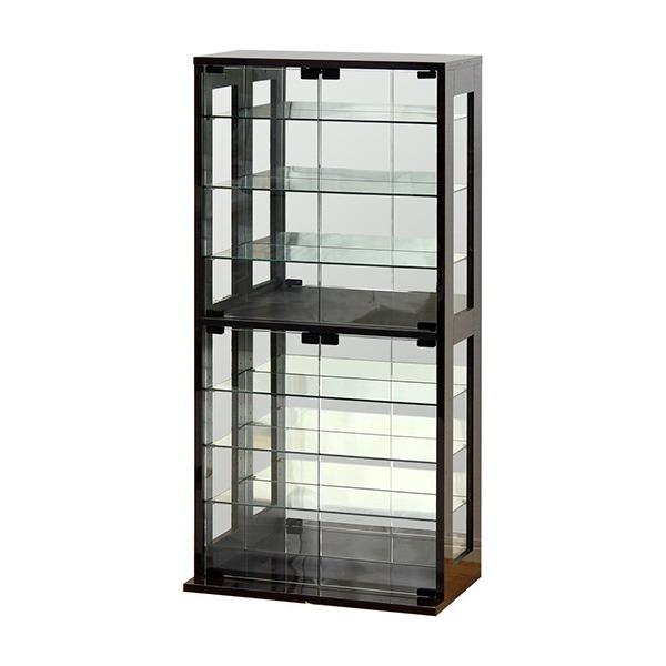 コレクションケース ショーケース コレクションボード ガラス フィギュア 収納 ダークブラウン クロシオ 27051 組立