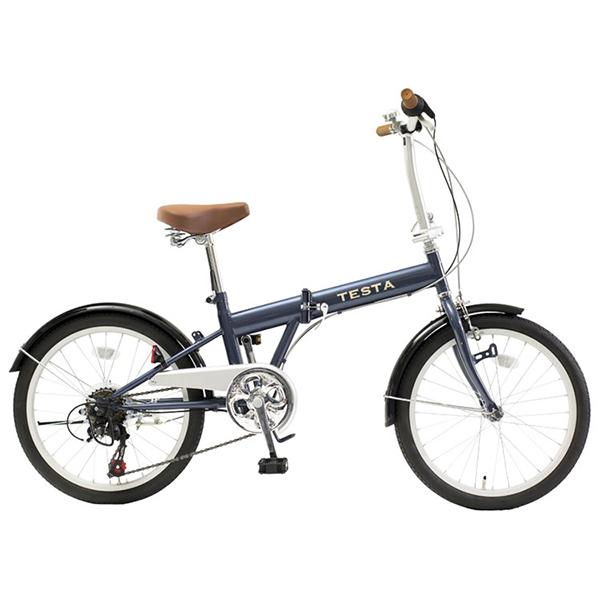 【送料無料】TOP ONE FKG206-48-NB ネイビー [折りたたみ自転車(20インチ・外装6段)]【同梱配送不可】【代引き不可】【沖縄・北海道・離島配送不可】