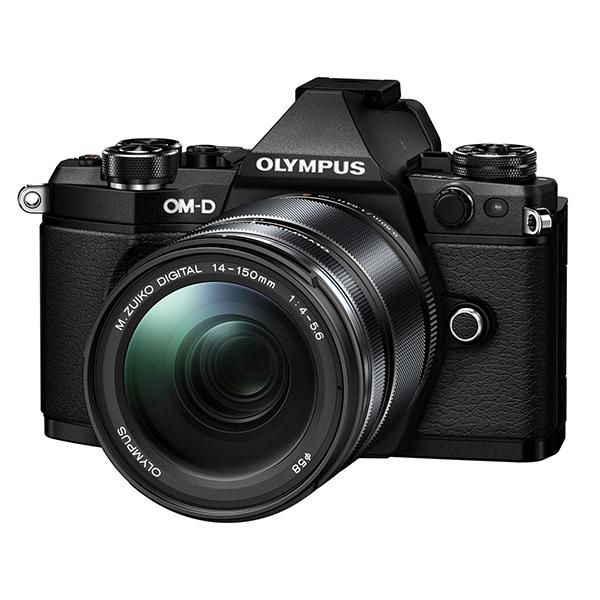 【送料無料】OLYMPUS(オリンパス) E-M5 Mark2・14-150mm 2レンズキット ブラック [デジタル一眼カメラ(1605万画素)]