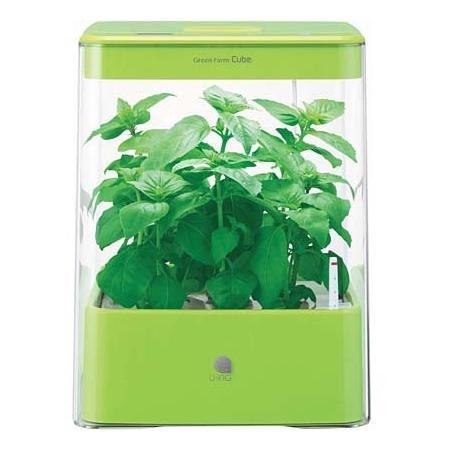 【送料無料】水耕栽培機 ユーイング UH-CB01G1(G) グリーン GreenFarm CUBE(グリーンファーム キューブ) 自然 彩り 野菜 植物 栽培 収穫 コンパクト おしゃれ インテリア タイマー