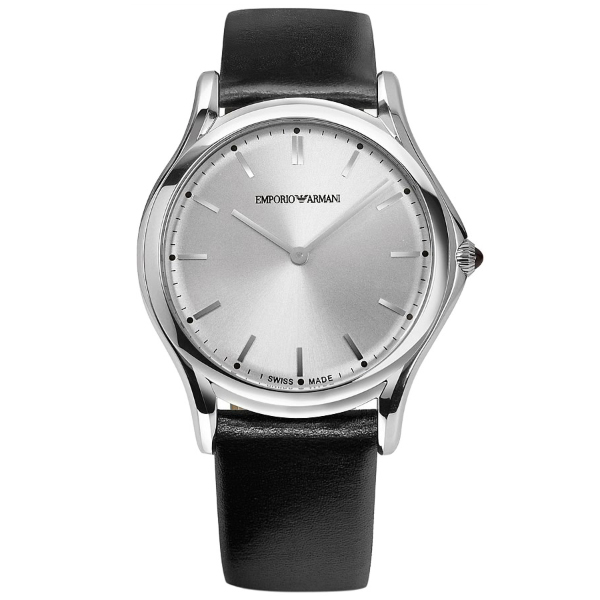 【送料無料】EMPORIO ARMANI ARS2002 シルバー×ブラック [クォーツ腕時計(ユニセックス)] 【並行輸入品】