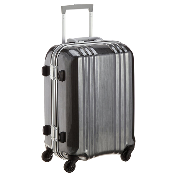 【送料無料】アジア・ラゲージ MM-5188 ガンメタブラッシュ A.L.I(エー・エル・アイ) デカかる2 [スーツケース(34L/1~2泊) 機内持ち込み可]