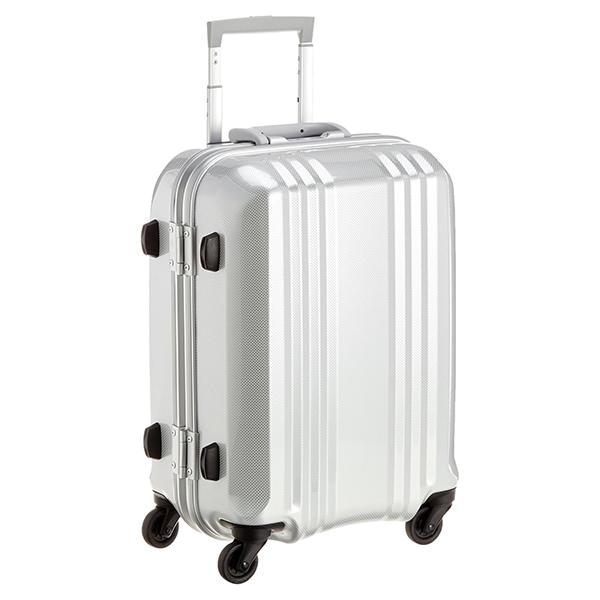 【送料無料】アジア・ラゲージ MM-5188 カーボンホワイト A.L.I(エー・エル・アイ) デカかる2 [スーツケース(34L/1~2泊) 機内持ち込み可]