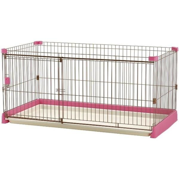 Richell ペット用お掃除簡単サークル150-80 ピンク