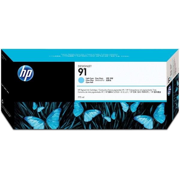 【送料無料】HP C9470A ライトシアン HP91 [インクカートリッジ ]【同梱配送不可】【代引き不可】【沖縄・離島配送不可】