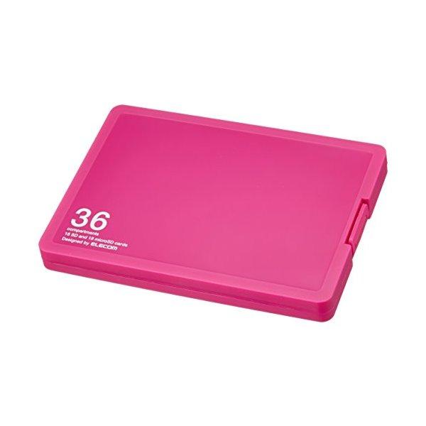 保存しているデータの確認に便利なインデックスカード付き。 ELECOM CMC-SDCPP36PN ピンク [メモリカードケース/インデックス台紙付き/SD18枚+microSD18枚収納]