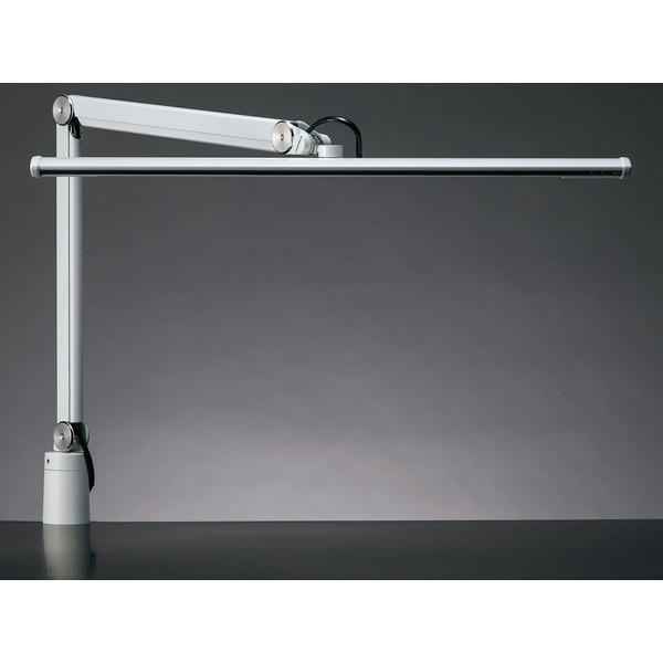 山田照明 Z-S5000-W ホワイト(白) Z-LIGHT(ゼットライト/Zライト) [クランプ式LEDスタンドライト] 連続調光 無段階調光(30~100%) 昼白色 5000K(Ra80) 丸形上締めクランプ(取付可能厚(10~45mm) JIS-AAクラス 精密作業 工場作業用 ラストメモリー ソフトスタート