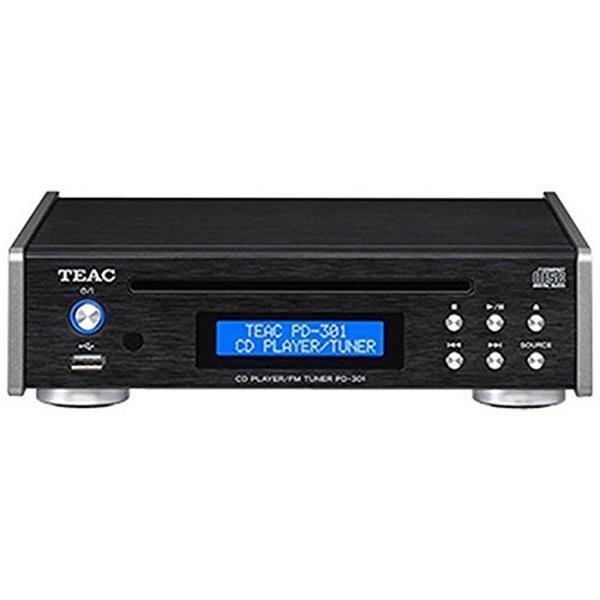 TEAC PD-301-B ブラック [CDプレーヤー (FMチューナー/USB搭載/FMワイドバンド対応)]