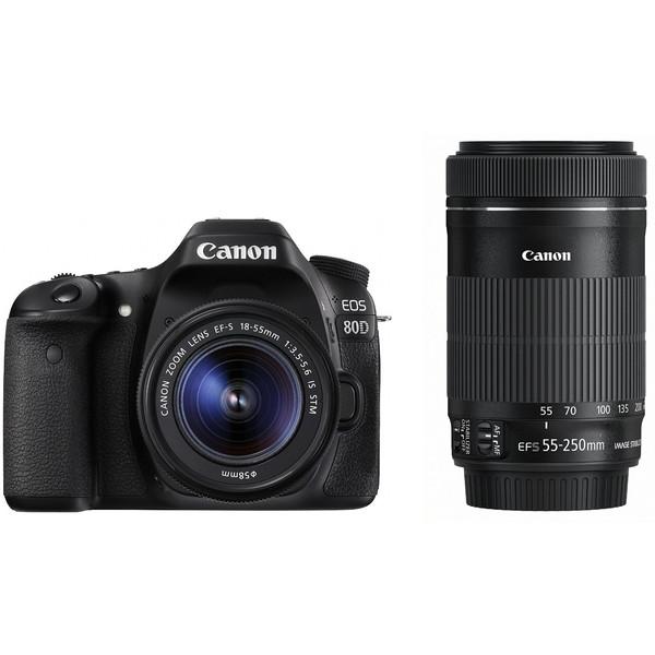 【送料無料】CANON EOS 80D ダブルズームキット EOS [デジタル一眼カメラ(約2420万画素)]