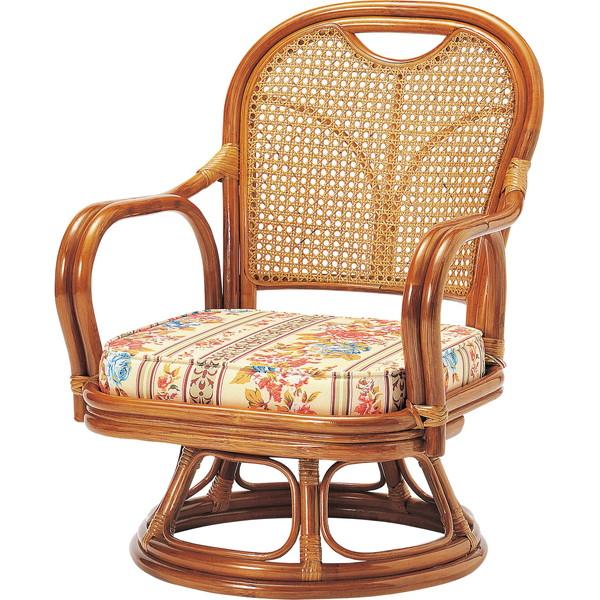 【送料無料】弘益 R-290S ラタン回転椅子 ロータイプ (SH290)【同梱配送不可】【代引き不可】【沖縄・北海道・離島配送不可】
